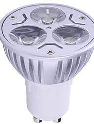1pc 6w gu10 führte scheinwerfer 3 high power led 400lm warmweiß kaltweiß dekorative ac85-265v