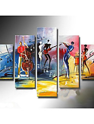 cheap -Hand-Painted Abstract Any Shape Canvas Oil Painting Home Decoration Five Panels