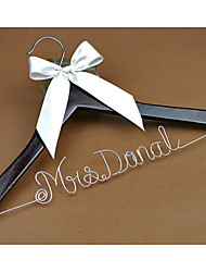 Personalized Wedding Dress Hanger, Custom Bridal Bridesmaid hanger, Wire Name Hanger Font D
