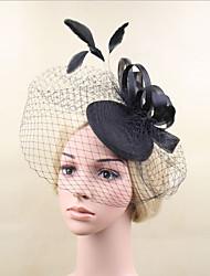 Damen Feder Netz Kopfschmuck-Hochzeit Besondere Anlässe Kopfschmuck Netzschleier 1 Stück