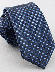 economico -Cravatte - Griglia DI Poliestere - Blu scuro