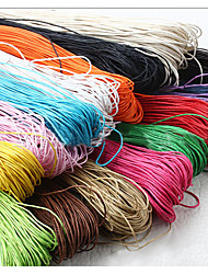 cheap -Beadia 60M/Lot  Fashion 1mm Waxed Cotton Cord  Necklace Beading String 12 Colors U-Pick