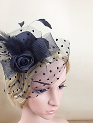 Feather Net Fascinators Hats Headpiece Classical Feminine Style