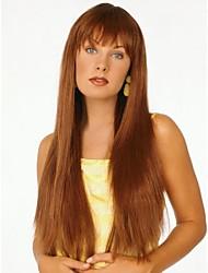 baratos -capless longo de alta qualidade retas mono top remy virgem perucas de cabelo humano sete cores para escolher