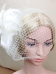 Damen Feder Netz Kopfschmuck-Hochzeit Besondere Anlässe Kopfschmuck Blumen Netzschleier 1 Stück