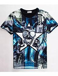 baratos -Homens Camiseta Chique & Moderno Estampado,Estampado