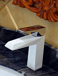 Art déco/Retrò A 3 fori Valvola in ceramica Uno Una manopola Un foro for  Pittura , Lavandino rubinetto del bagno