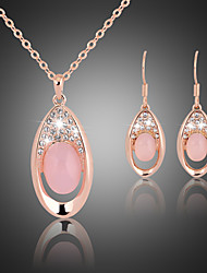 cheap -Women's Jewelry Set Crystal Gemstone & Crystal Cubic Zirconia Rose Gold Plated Alloy Cute Party Fashion Party Special Occasion