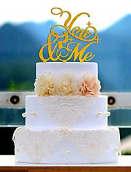 Decorações de Bolo Acrílico Casamento Chá de Cozinha Com Bolsa Poly