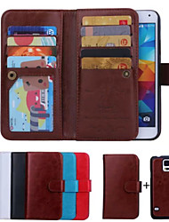 cheap -SHI CHENG DA Case For Samsung Galaxy Samsung Galaxy Case Wallet / Card Holder / Flip Full Body Cases Solid Colored PU Leather for S6 edge / S6 / S5