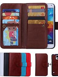 economico -SHI CHENG DA Custodia Per Samsung Galaxy Samsung Galaxy Custodia A portafoglio / Porta-carte di credito / Con chiusura magnetica Integrale Tinta unita pelle sintetica per S6 edge / S6 / S5