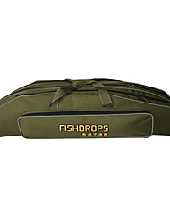 Fishdrops Fishing Bag, 31.6L Large Capacity Water Proof Navy Green Canvas Bag 80cm* 22cm* 18cm,Three Layers