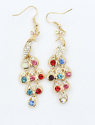 cheap -Women's Drop Earrings Crystal Fashion European Costume Jewelry Rhinestone Gold Plated 18K gold Imitation Diamond Austria Crystal Jewelry