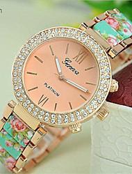 Недорогие -Geneve женщин стали группа аналоговый кварцевые наручные часы (разных цветов)