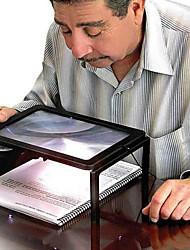 Недорогие -полная страница большой гигант стол увеличительное стекло лупа для чтения