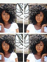 Недорогие -в наличии 10-28inch плотности 130% странный фигурных натуральных цветных 100% бразильские человеческие волосы парик парики шнурка
