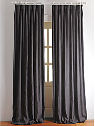 cheap -Rod Pocket Grommet Top Tab Top Double Pleat Two Panels Curtain European Designer Country Modern Neoclassical Mediterranean , Print Solid