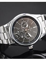 Men's European Style Fashion New with Calendar Steel Watch Wrist Watch Cool Watch Unique Watch