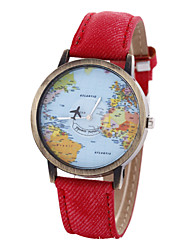 cheap -Unisex Watch Women's Watch Map Watch Strap Movement Strap Watch Cool Watches Unique Watches Fashion Watch