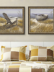 economico -Paesaggio Trasporti Vintage Tele con cornice Set con cornice Decorazioni da parete,PVC Materiale con cornice For Decorazioni per la casa