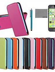 Недорогие -COCO FUN Кейс для Назначение iPhone 5c / Apple iPhone 8 / iPhone 8 Plus Чехол Твердый Настоящая кожа для iPhone 8 Pluss / iPhone 8 / iPhone 5c