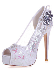 Women's Shoes  Stiletto Heel Peep Toe Sandals Wedding/Party & Evening Black/Blue/Pink/Red/Ivory/White/Gold