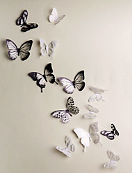 cheap -3D Wall Stickers 18PCS Butterfly  Wall Decals Wedding Decoration