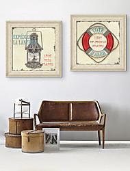 baratos -Vida Imóvel Vintage Fantasia Quadros Emoldurados Conjunto Emoldurado Arte de Parede,PVC Material com frame For Decoração para casa Arte
