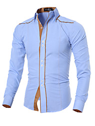 cheap -Men's Korean Fashion Personalized Slim Long-Sleeve Shirt
