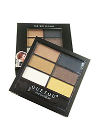 6色 Lidschattenpalette Trocken Lidschatten-Palette Puder Normal Alltag Make-up / Smokey Makeup