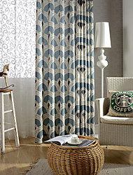 cheap -Rod Pocket Grommet Top Tab Top Double Pleat Pencil Pleat One Panel Curtain Country Modern Neoclassical European Designer , Print &