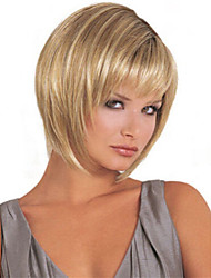 Fashion Women Lady Short Synthetic Hair Wig Blonde Mix Hair Wig