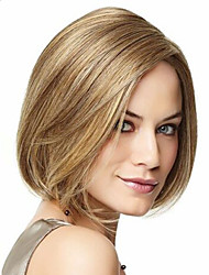 cheap -Europe And The United States  Sell Like Hot Cakes Golden Highlights Points BOBO Head Short Straight Hair Wig