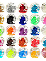 cheap -24pcs Acrylic Powder Powder Abstract Classic Lovely Wedding High Quality Daily