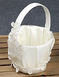 Недорогие -Цветочные корзины Атлас / Шелк 24 см Лепестки / Вышивка 1 pcs
