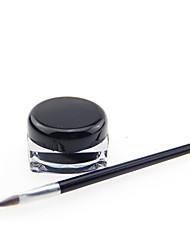cheap -Waterproof Black Natural EyeLiner Gel with Brush Set Cosmetic Beauty Care Makeup for Face