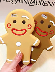 Gingerbread Man Silicone Phone Case For iPhone 6s 6 Plus  iPhone Cases