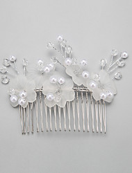 krystal imiteret perle legering hår kamme hovedstykke elegant stil
