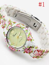 cheap -Women's Quartz Wrist Watch Hot Sale Plastic Band Charm Fashion