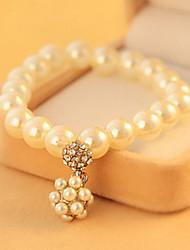 Cadeia de vermeil feminino com pulseira de pedra não clássica estilo feminino clássico