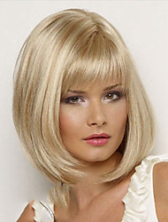 Women Lady Short Synthetic Hair Wig with Full Bang