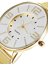 cheap -Fashion Popular Steel Mesh Band Gold Watch Women Luxury Brand Dress Quartz Watches Clock Hours Lady White Dial Cool Watches Unique Watches Strap Watch