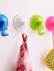 Strong Vacuum Kitchen Hooks Bathroom Removable Suction Cup Wall Hanger (Random Color)