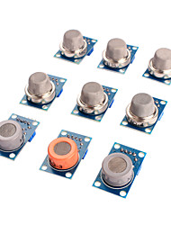 cheap -Gas Sensor MQ-2 MQ-3 MQ-4 MQ-5 MQ-6 MQ-7 MQ-8 MQ-9 MQ-135 Sensor Kit Module for Arduino
