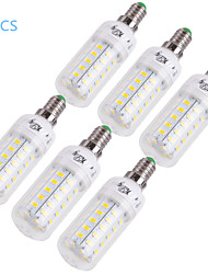 cheap -E14 E26/E27 LED Corn Lights T 48 SMD 5730 1000 lm Warm White Cold White 3000/6000 K Decorative AC 220-240 AC 110-130 V 6pcs