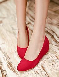 cheap -Women's Shoes Chunky Heel Heels Pumps/Heels Office & Career/Casual Black/Blue/Red/Beige