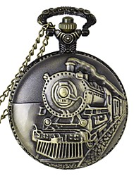 cheap -Men's Pocket Watch Casual Watch Alloy Band Charm Bronze