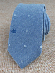 cheap -Unisex Cotton Neck Tie,Vintage Party Work Casual Print All Seasons Light Blue