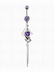 abordables -Autres Imitation Diamant Anneau du nombril / piercing au nombril - Femme Violet / Bleu Original / Mode Bijoux de Corps Pour Quotidien /