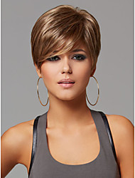 cheap -New Light Brown Mix Short Straight Women's synthetic Hair wig